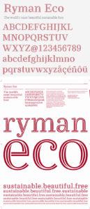 Ryman Eco, la police d'écriture qui économise un tiers d'encre à l'impression